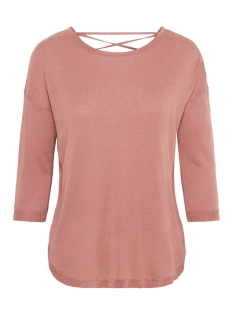 Vero Moda Trui VMRAIN 3/4 SLEEVE  BACK STRING BLOUSE 10207837 Old Rose