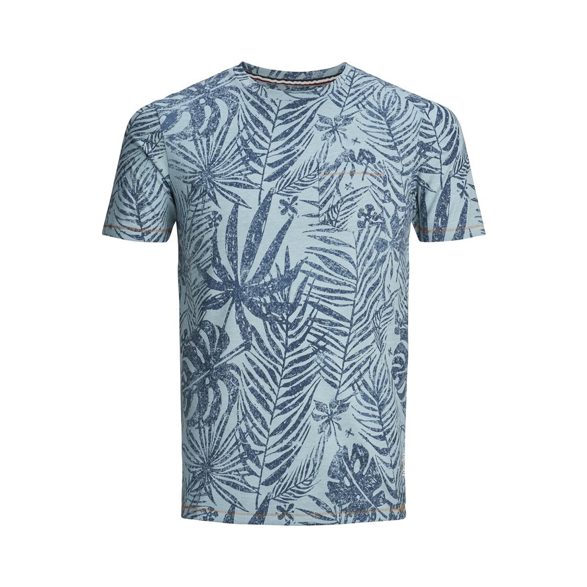 pktgms clyde aop tee ss 12149694 produkt t-shirt stone blue/melange