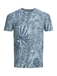 Produkt T-shirt PKTGMS CLYDE AOP TEE SS 12149694 Stone Blue/MELANGE