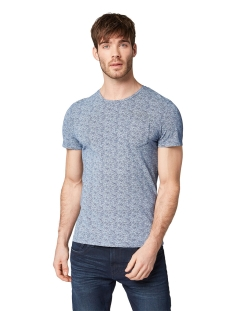 all over printed shirt 1009915xx10 tom tailor t-shirt 16978