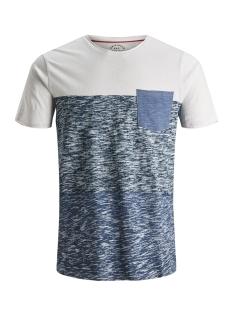 Jack & Jones T-shirt JORBOTTLE TEE SS CREW NECK 12148028 Cloud Dancer/SLIM