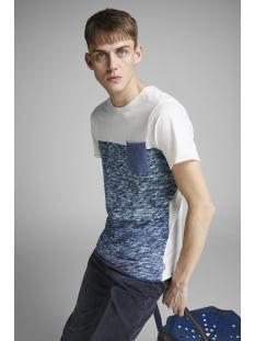 jorbottle tee ss crew neck 12148028 jack & jones t-shirt cloud dancer/slim