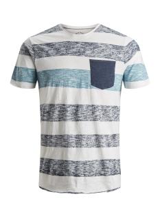 Jack & Jones T-shirt JORBOTTLE TEE SS CREW NECK 12148028 Cloud Dancer/SLIM STR