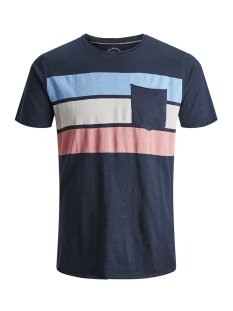 c63f4af99c0 -20% Jack & Jones T-shirt JORBOTTLE TEE SS CREW NECK 12148028 Total  Eclipse/SLIM