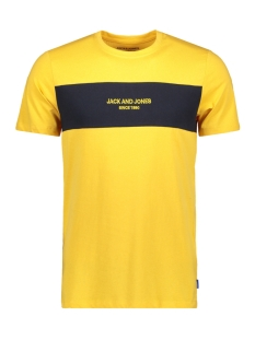 Jack & Jones T-shirt JORSTAVE TEE SS CREW NECK 12163143 Yolk Yellow/SLIM