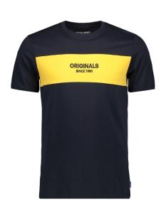 Jack & Jones T-shirt JORSTAVE TEE SS CREW NECK 12163143 Total Eclipse/SLIM
