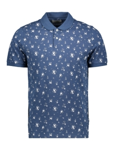 Produkt Polo PKTGMS MIX AOP POLO SS 12155060 Dark Navy/BIRDS