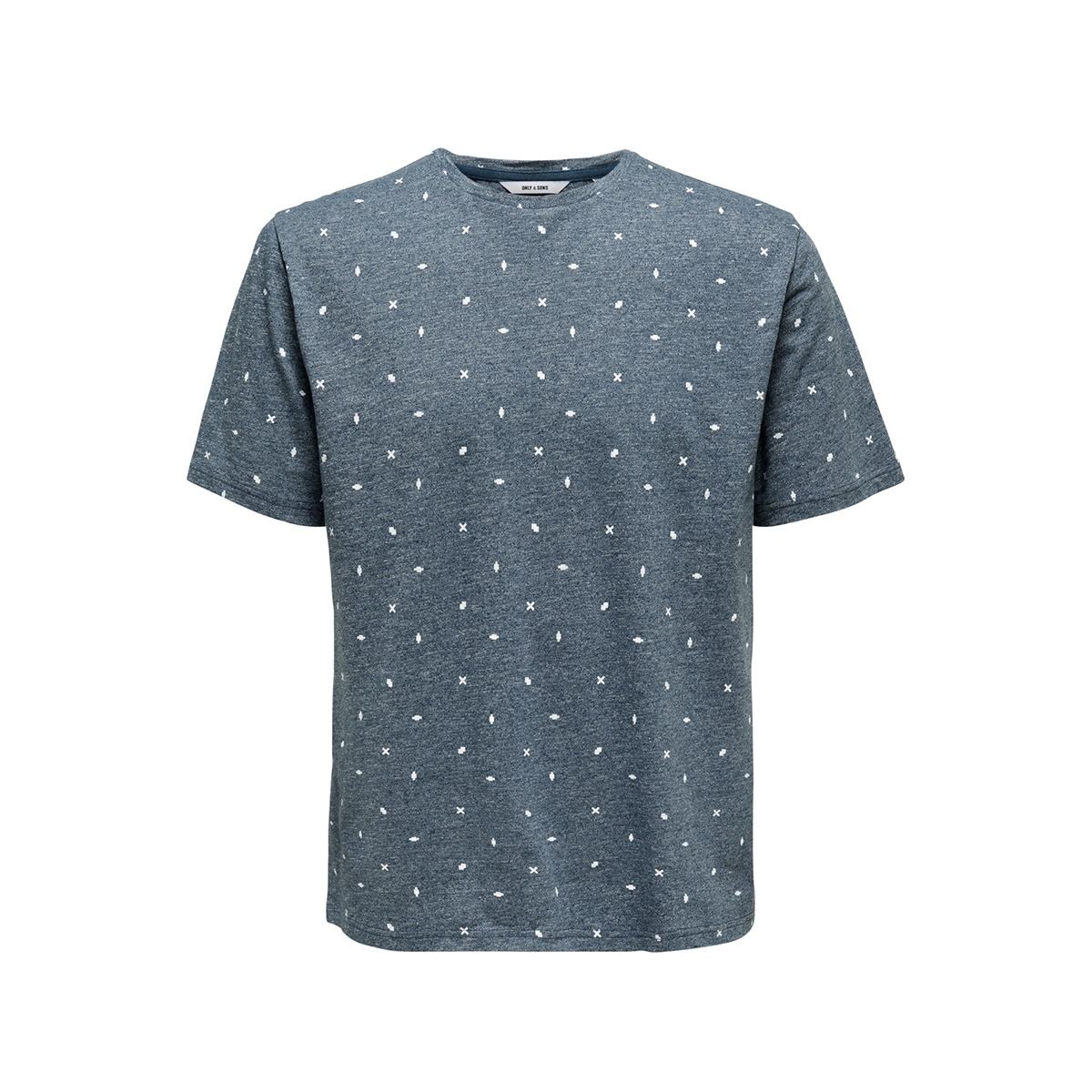 onslang ss ditsy aop tee 22012561 only & sons t-shirt majolica blue