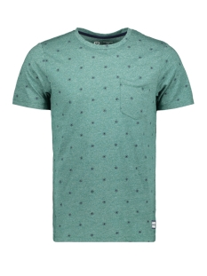 jcocraft tee ss crew neck nl 12154672 jack & jones t-shirt evergreen/slim melange