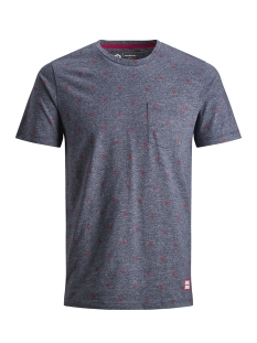 Jack & Jones T-shirt JCOCRAFT TEE SS CREW NECK NL 12154672 Maritime Blue/SLIM MELANGE