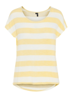 Vero Moda T-shirt VMWIDE STRIPE S/L TOP NOOS 10190017 Yarrow/SNOW WHITE