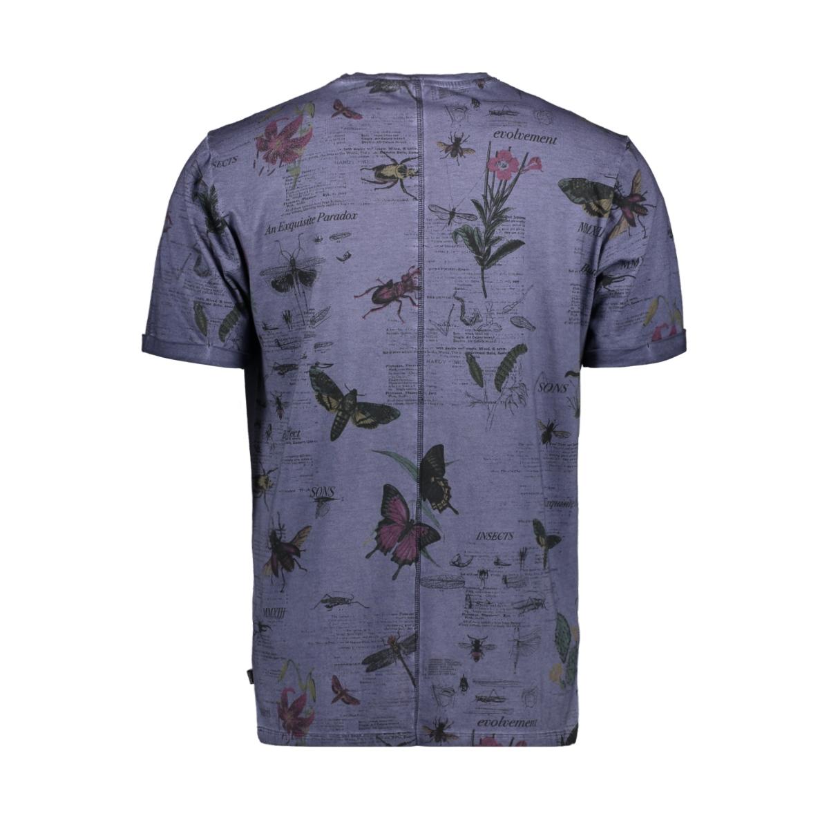 onsnew dimas bugy tee 22014079 only & sons t-shirt blue nights
