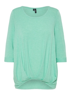 Vero Moda T-shirt VMZHEI 3/4 FOLD-UP TOP COLOR 10211606 Wasabi