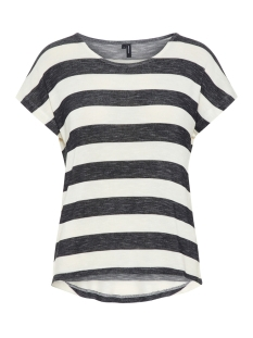 Vero Moda T-shirt VMWIDE STRIPE S/L TOP NOOS 10190017 Black/SNOW WHITE