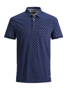 Jack & Jones Polo JPRHECTOR BLU. POLO SS 12148307 Dark Blue Denim/SLIM FIT