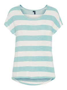 Vero Moda T-shirt VMWIDE STRIPE S/L TOP NOOS 10190017 Wasabi/SNOW WHITE