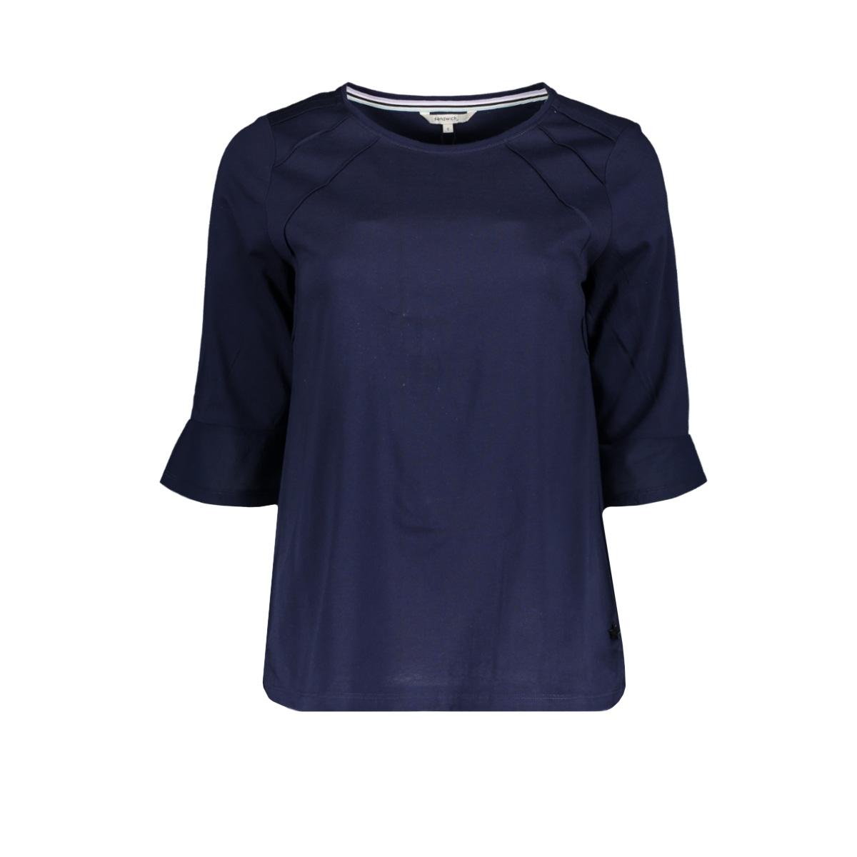top met gestikt plisse achterkant 21101643 sandwich t-shirt 40151