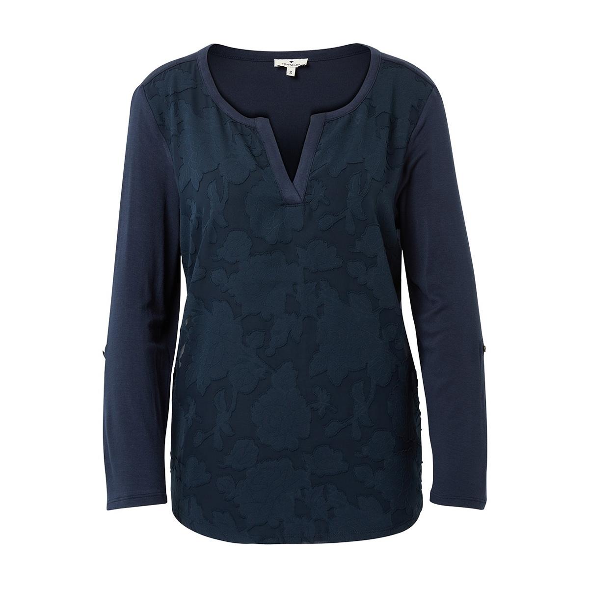 longsleeve met bloemenmotief 1009661xx70 tom tailor t-shirt 10360