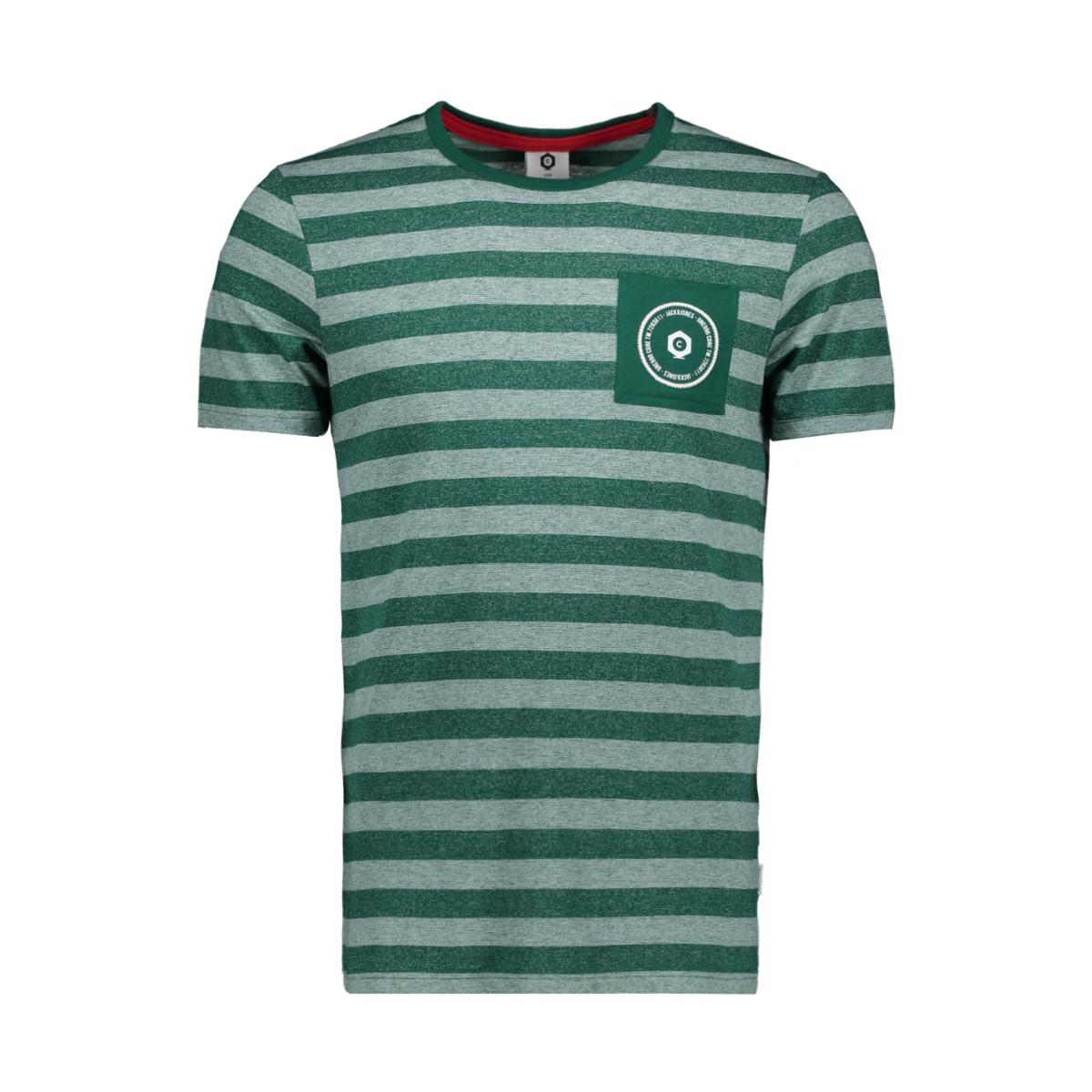 jcodenny tee ss crew neck 12148515 jack & jones t-shirt evergreen/slim