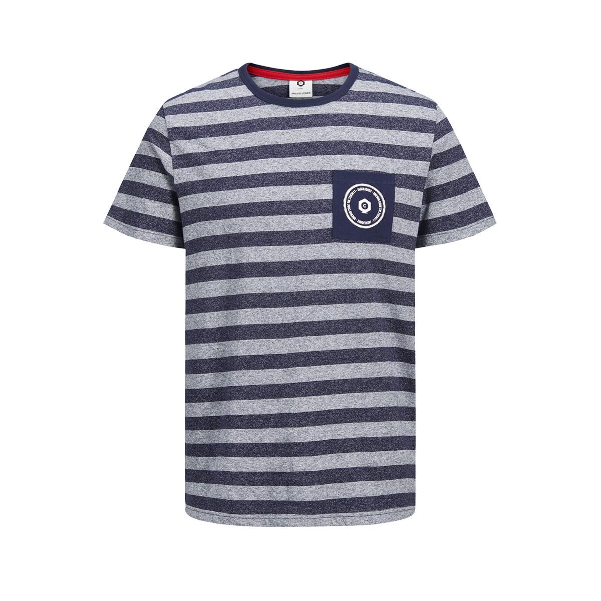 jcodenny tee ss crew neck 12148515 jack & jones t-shirt maritime blue/slim