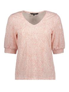 Vero Moda T-shirt VMTIA 2/4 TOP JRS 10212578 Snow White/FIERY RED