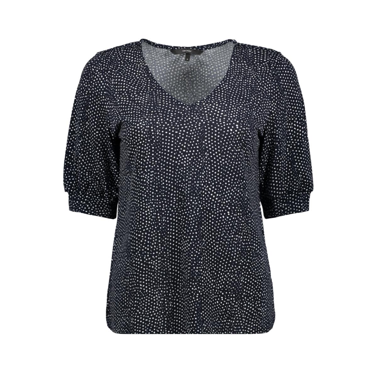 vmtia 2/4 top jrs 10212578 vero moda t-shirt night sky/snow white