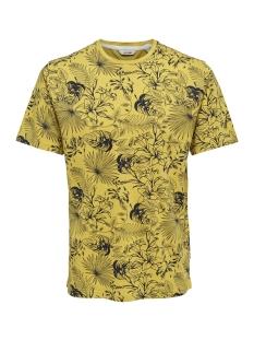 Only & Sons T-shirt onsEMIL SLUB AOP REG TEE SS 22012258 Sauterne