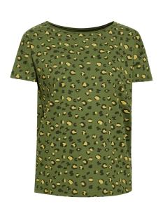 EDC T-shirt SHIRT MET PRINT EN ONAFGEWERKTE RANDEN 029CC1K036 C365