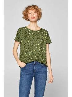 shirt met print en onafgewerkte randen 029cc1k036 edc t-shirt c365