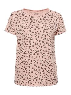 EDC T-shirt SHIRT MET PRINT EN ONAFGEWERKTE RANDEN 029CC1K036 C690