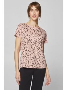 shirt met print en onafgewerkte randen 029cc1k036 edc t-shirt c690