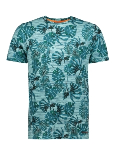 Jack & Jones T-shirt JORFLORIS TEE SS CREW NECK 12155842 Aqua Sky/SLIM