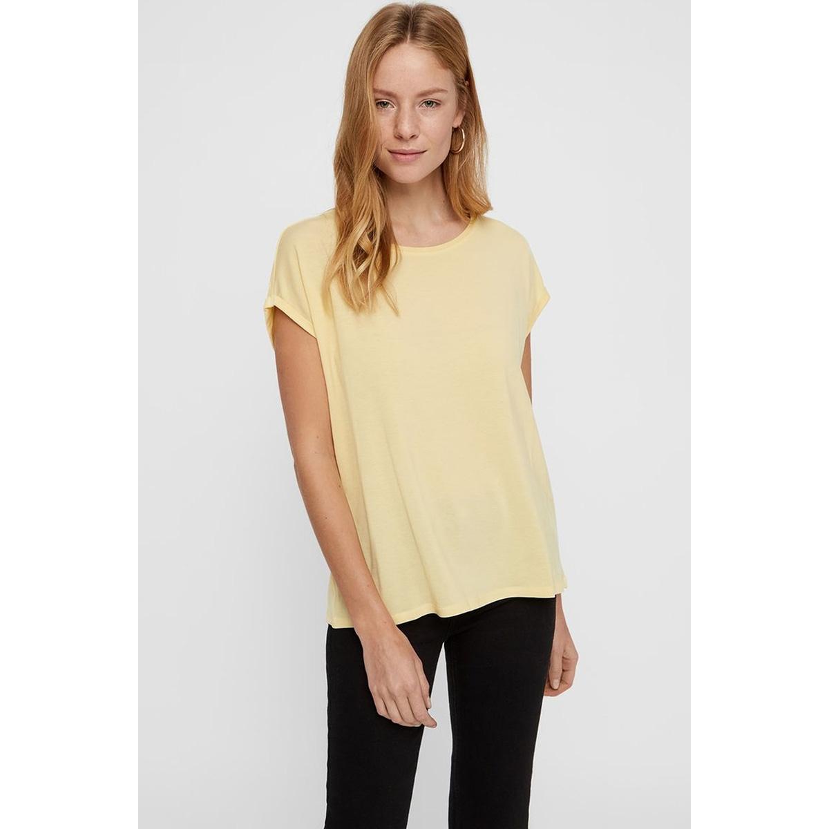 vmava plain ss top ga color 10195724 vero moda t-shirt mellow yellow