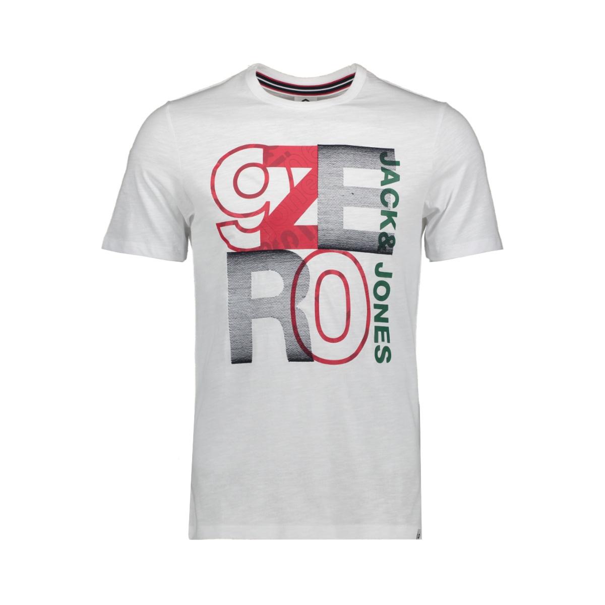 jcotilly tee ss crew neck 12148516 jack & jones t-shirt white/slim