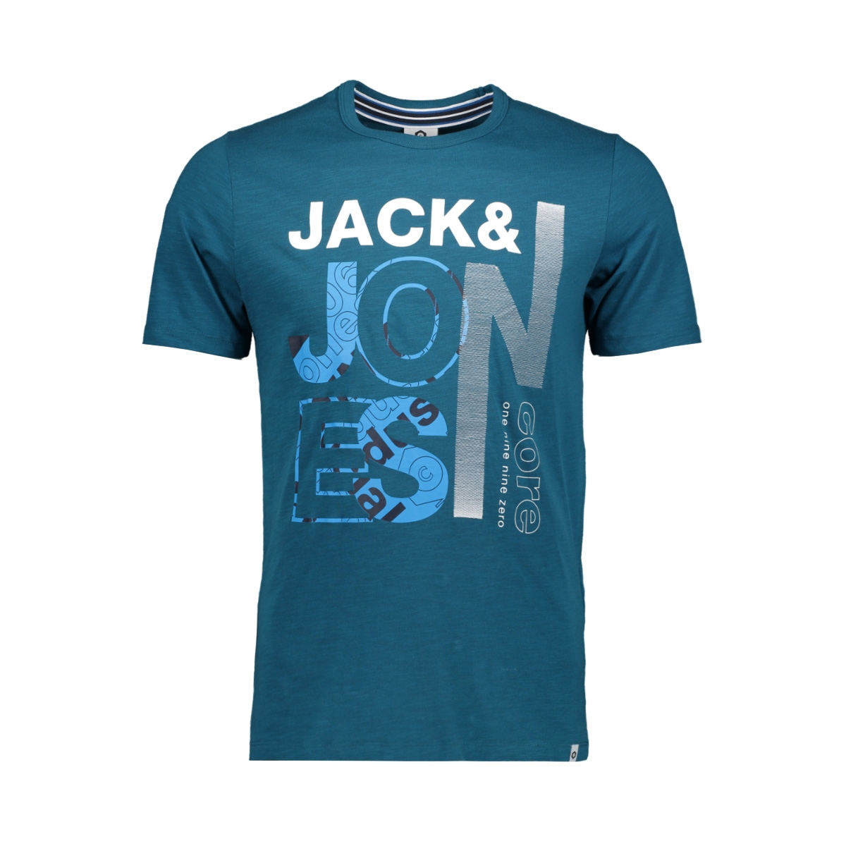 jcotilly tee ss crew neck 12148516 jack & jones t-shirt blue coral/slim