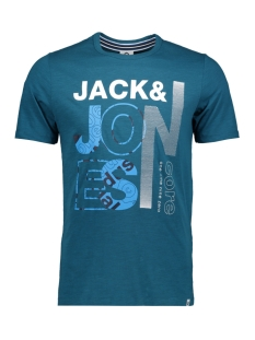jcotilly tee ss crew neck 12148516 jack & jones t-shirt blue coral/slim
