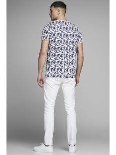 jprbruxelles aop bla. tee ss crew n 12153702 jack & jones t-shirt white/slim fit