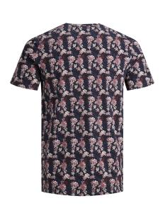 jprbruxelles aop bla. tee ss crew n 12153702 jack & jones t-shirt dark navy/slim fit