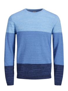 Jack & Jones Trui JCOSACRAMENTO KNIT CREW NECK 12151370 Maritime Blue/KNIT FIT