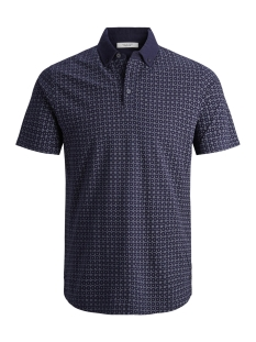 Jack & Jones Polo JPRMISTO BLA. POLO SS PRE 12146422 Maritime Blue/SLIM FIT