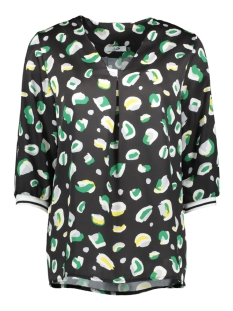 peggy top 8423 luba blouse black/green
