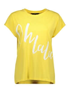 Vero Moda T-shirt VMCLIVE AVA S/S  WIDE TOP BOX GA JR 10214804 Yarrow/OH LA LA