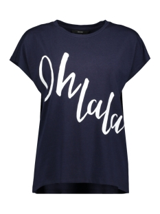 Vero Moda T-shirt VMCLIVE AVA S/S  WIDE TOP BOX GA JR 10214804 Night Sky/OH LALA