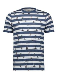 Produkt T-shirt PKTGMS MIX AOP TEE SS 12155086 Dark Denim/WINDSURF