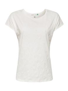 Esprit T-shirt SHIRT MET AJOURBORDUURSEL 049EE1K007 E110