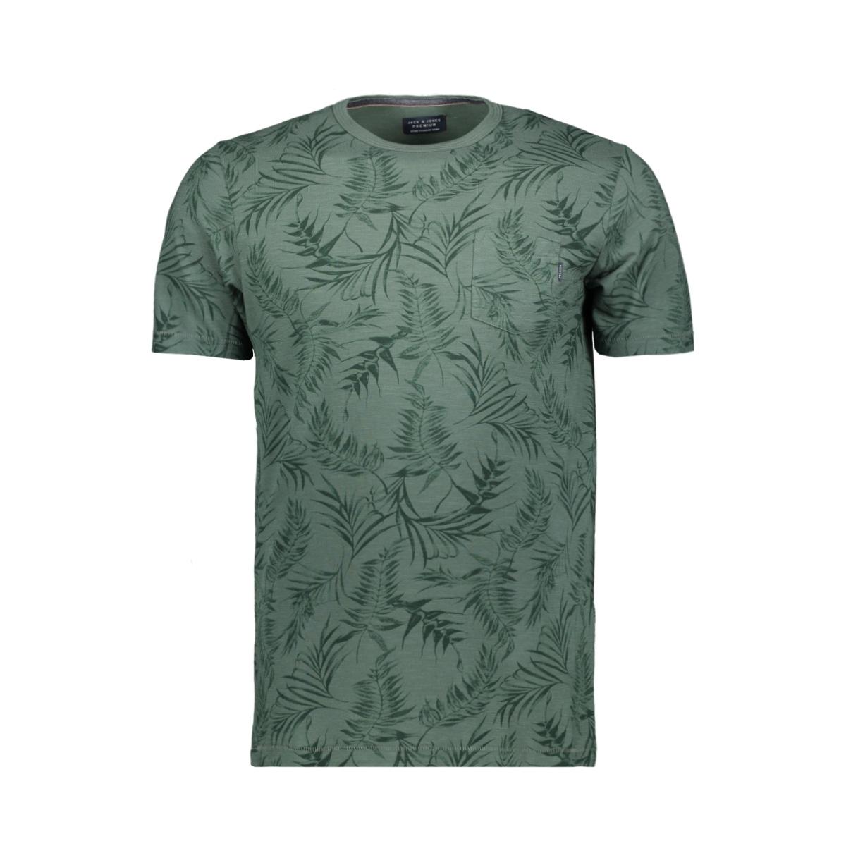 jprsean. blu. tee ss crew neck 12149369 jack & jones t-shirt duck green/ slim fit