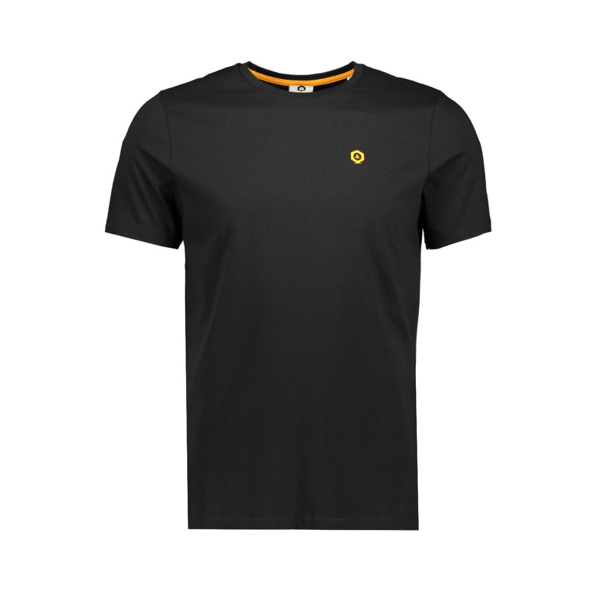 jcoboston tee ss crew neck 12156938 jack & jones t-shirt black/slim