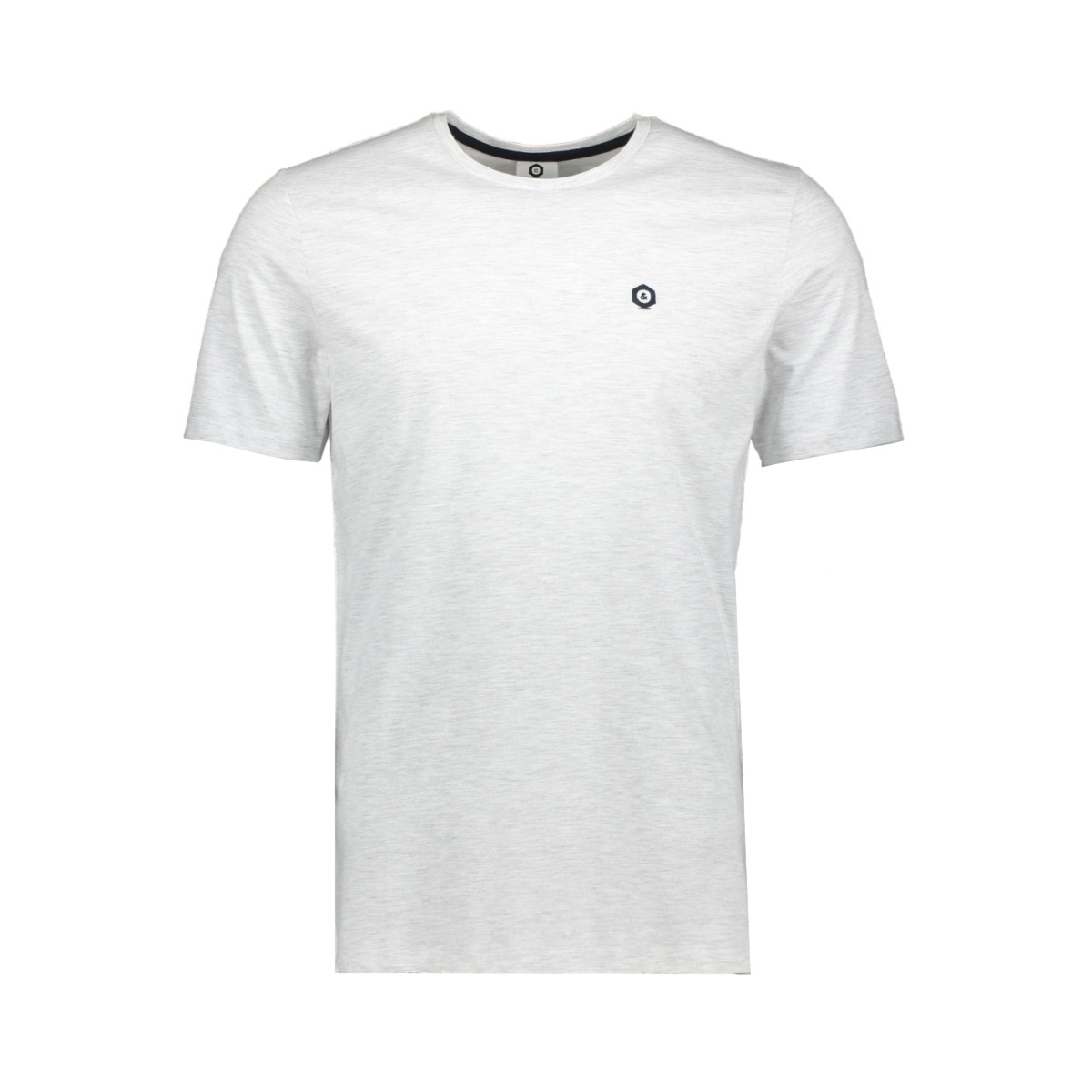 jcoboston tee ss crew neck 12156938 jack & jones t-shirt frost/mel. slim