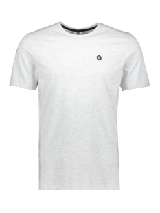Jack & Jones T-shirt JCOBOSTON TEE SS CREW NECK 12156938 Frost/MEL. SLIM
