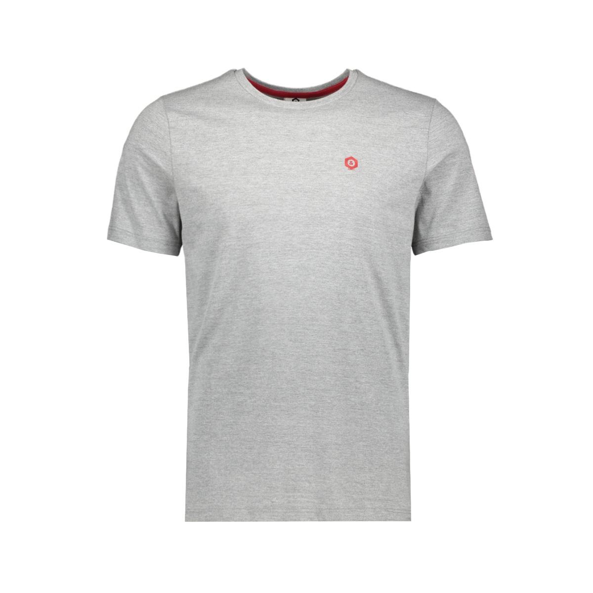jcoboston tee ss crew neck 12156938 jack & jones t-shirt grey melange/slim